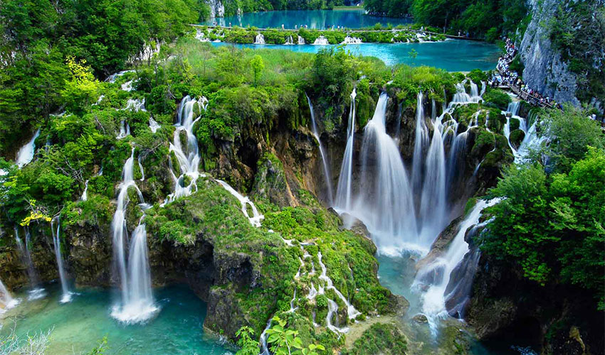 a csodálatos Plitvicei tóvidék